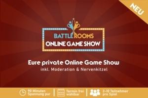 5er-Bundle Ticket für die Battle Rooms - Online Game Show: Die wohl spannensten 90 Minuten im Quiz-Show-Format