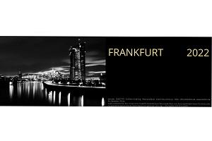 Frankfurt Tischkalender 2022 - 365 Tage Mainmetropole in schwarz-weiß